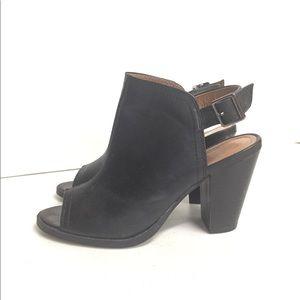 Lauren Conrad Black Peep Toe Bootie Size 6.5